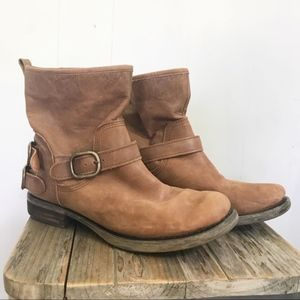Lucky Brand | Brown Norton Leather Moto Boots